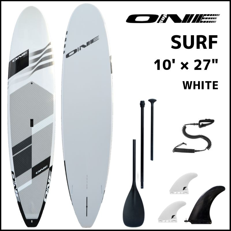"【ONE ワン】 ONE SUP SURF 10'0 × 27"" GLOSS WHITE PVC"
