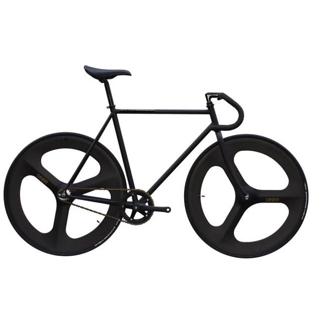 【CARTELBIKES カーテルバイク】 AVENUE MAT BLACK DINER FRONT&REAR 3SPOKE CARBON WHEEL  カスタム完成車