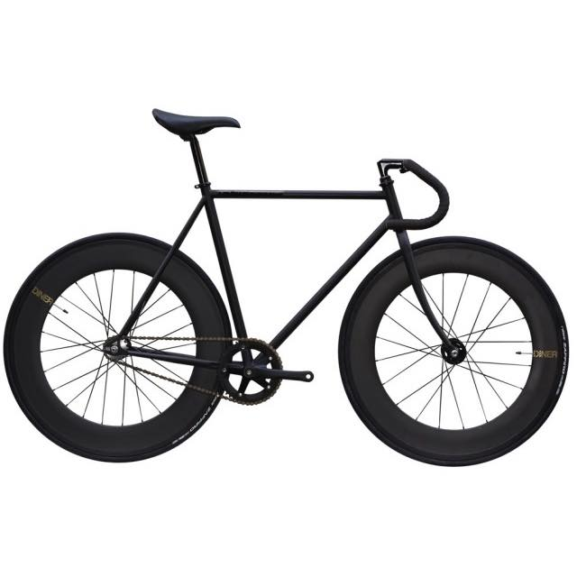 【CARTELBIKES カーテルバイク】 AVENUE MAT BLACK DINER FRONT&REAR 88mm CARBON WHEEL  カスタム完成車