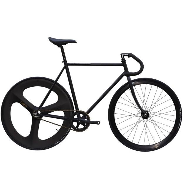 【CARTELBIKES カーテルバイク】 AVENUE MAT BLACK DINER REAR 3SPOKE CARBON WHEEL  カスタム完成車