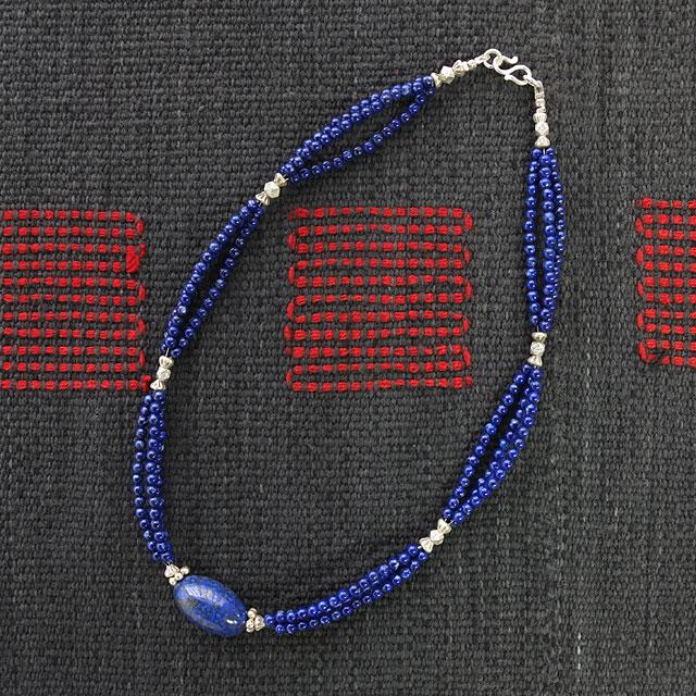 ラピスラズリ・3連ネックレス