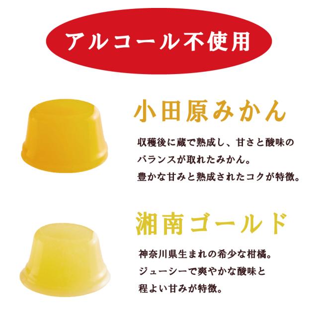 ジュレ・ビジュ_蔵熟みかん、湘南ゴールド味の説明