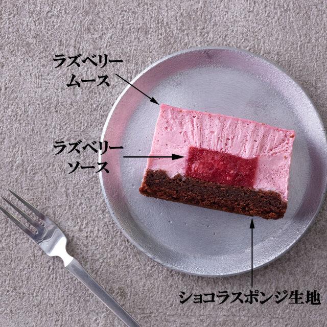 植物由来ラズベリームースショコラケーキ