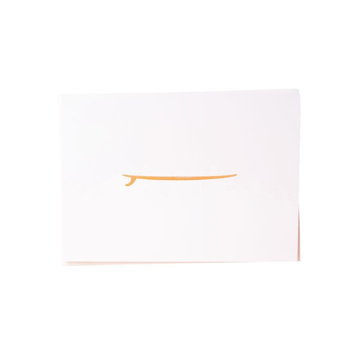 Surfboard Gold Foil Notes Card