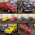 ★ダイキャストミニカー【Volkswagen Classical Beetle 1967】 フラワープリント 1/32♪★