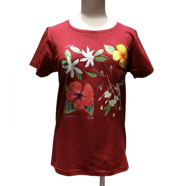 ノアノアTシャツ(ボルドー)