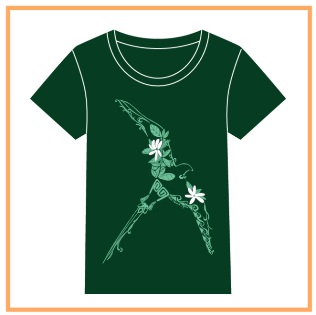 HEIVA公式Tシャツ19(ダークGNxミントGN/M)