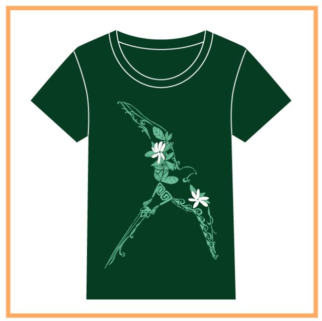 HEIVA公式Tシャツ19(ダークGNxミントGN/L)