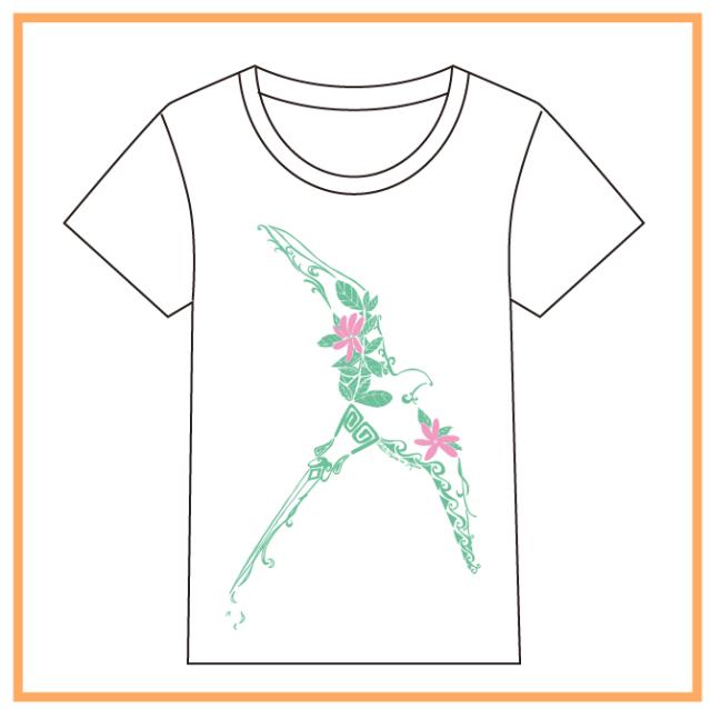 HEIVA公式Tシャツ19(ホワイトxミントGN/L)