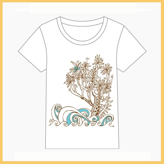HEIVA公式Tシャツ18(ホワイト/M)