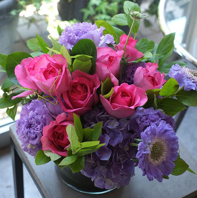 ガラスベース|フラワーアレンジメント|香りのバラ|12,000円|G1529007