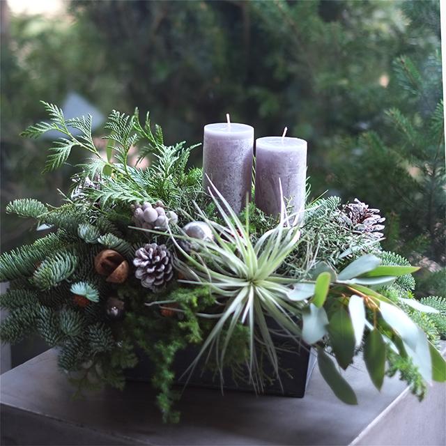 キャンドルアレンジメント|クリスマスアレンジメント|10,000円|1529039