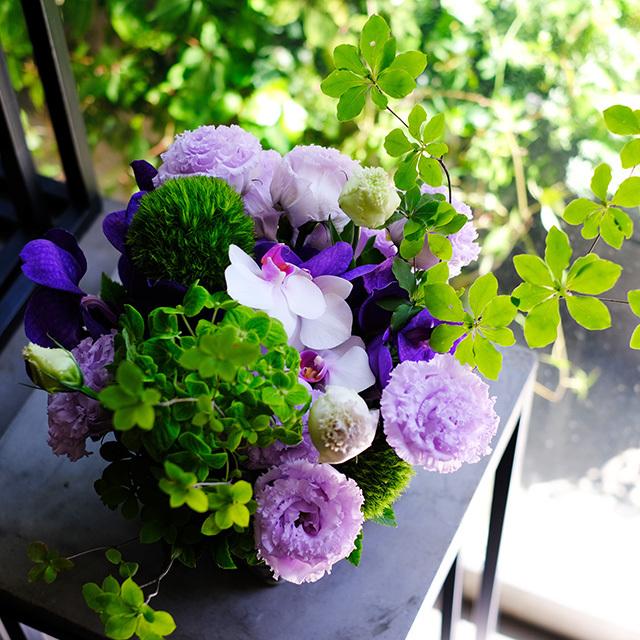 プレゼントの花パープル