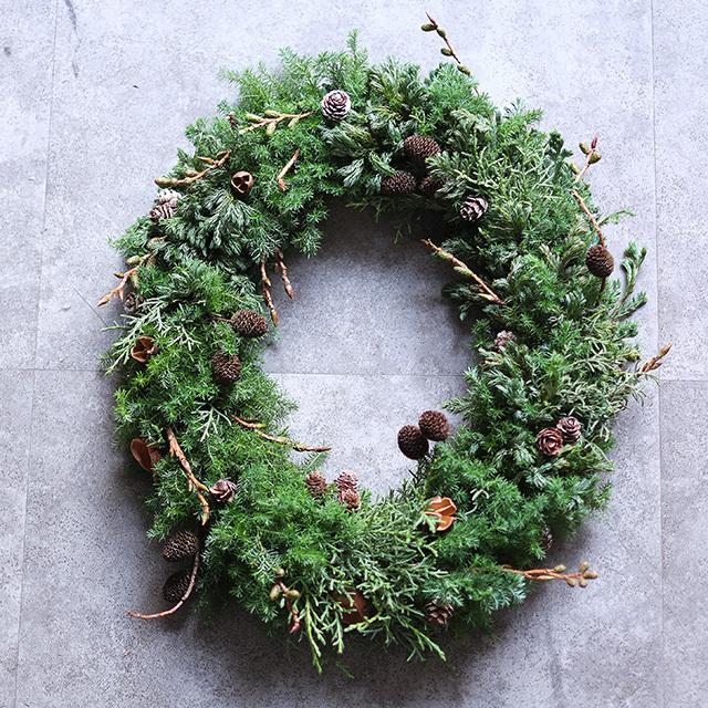 クリスマスリース|オーバル|ナッツ|350mm|10,000円|W1529030