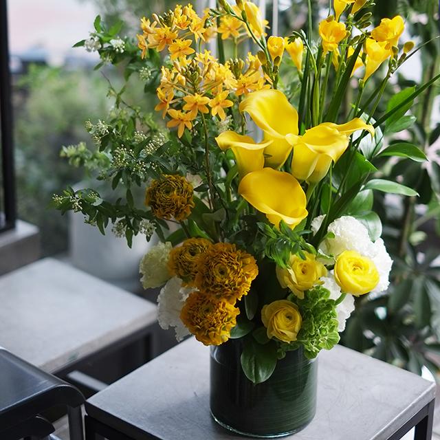 ガラスベース|フラワーアレンジメント|季節花おまかせ|15,000円|G1529052