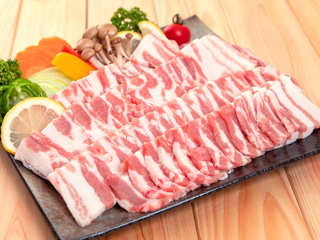 「麓山高原豚」バラ焼肉用 900g