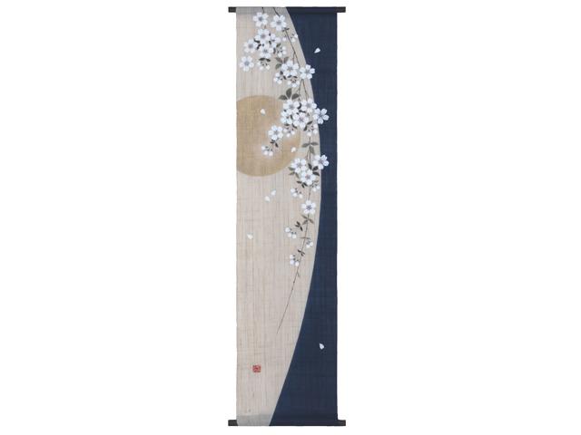 【洛柿庵】手描きタペストリー「枝垂月」