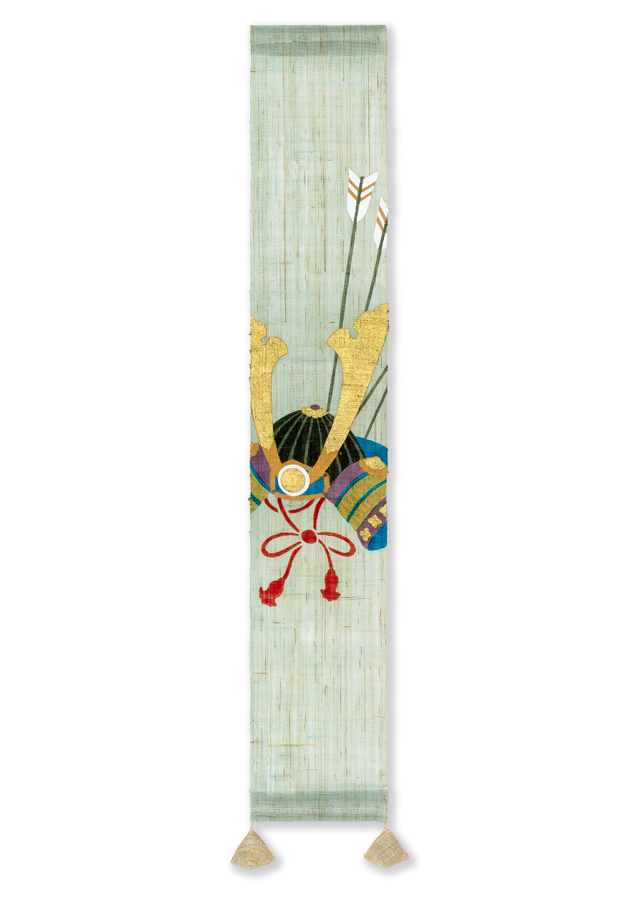 【洛柿庵】豆タペストリー「かぶと飾り」