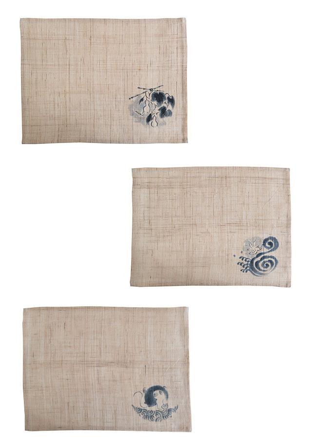 【祇園祭期間・限定品】ランチョンマット「波うさぎ・なまず・ひょうたん 3枚セット」