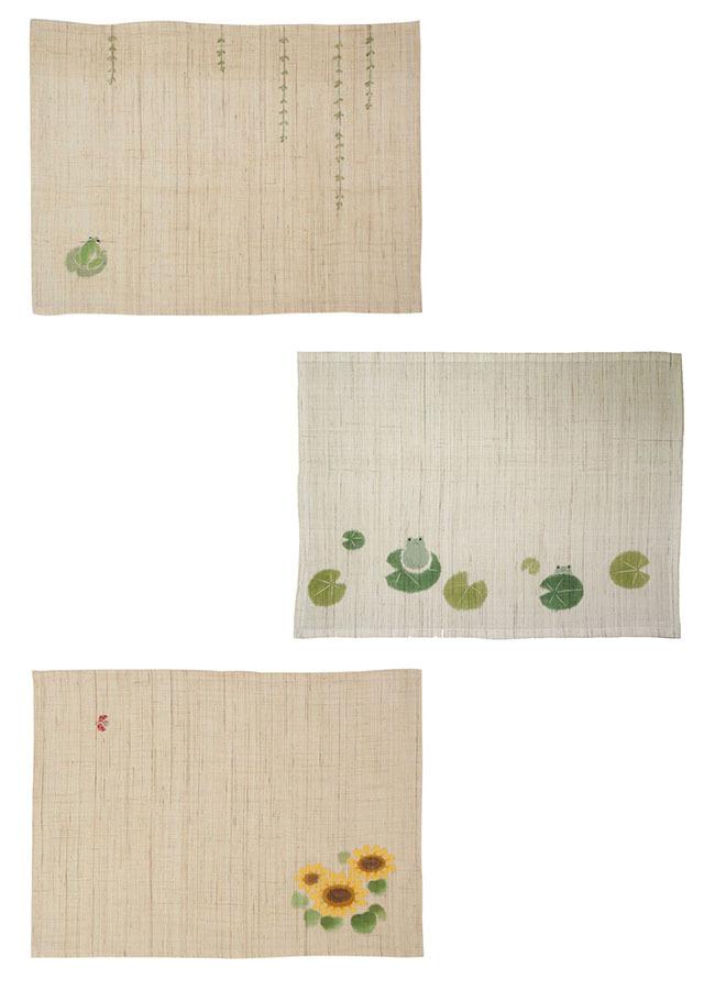 【祇園祭期間・限定品】ランチョンマット「ひまわり・蓮かえる・青やなぎ 3枚セット」