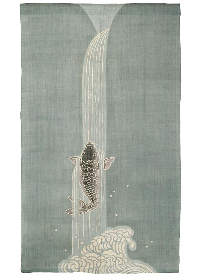 のれん「鯉の滝登り」