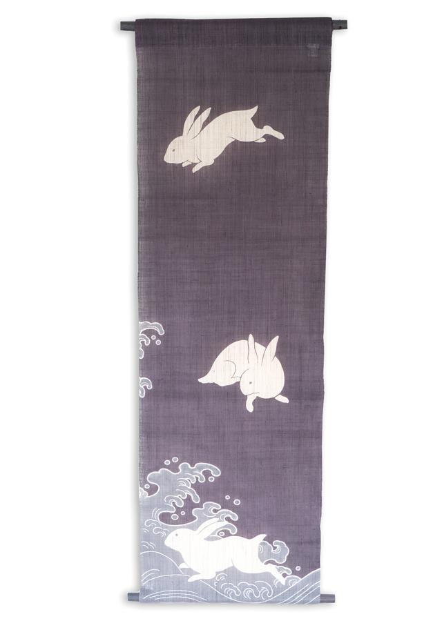 【祇園祭期間・限定品】タペストリー「波うさぎ三匹」