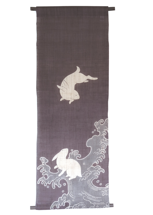 【祇園祭期間・限定品】タペストリー「波うさぎ二匹」