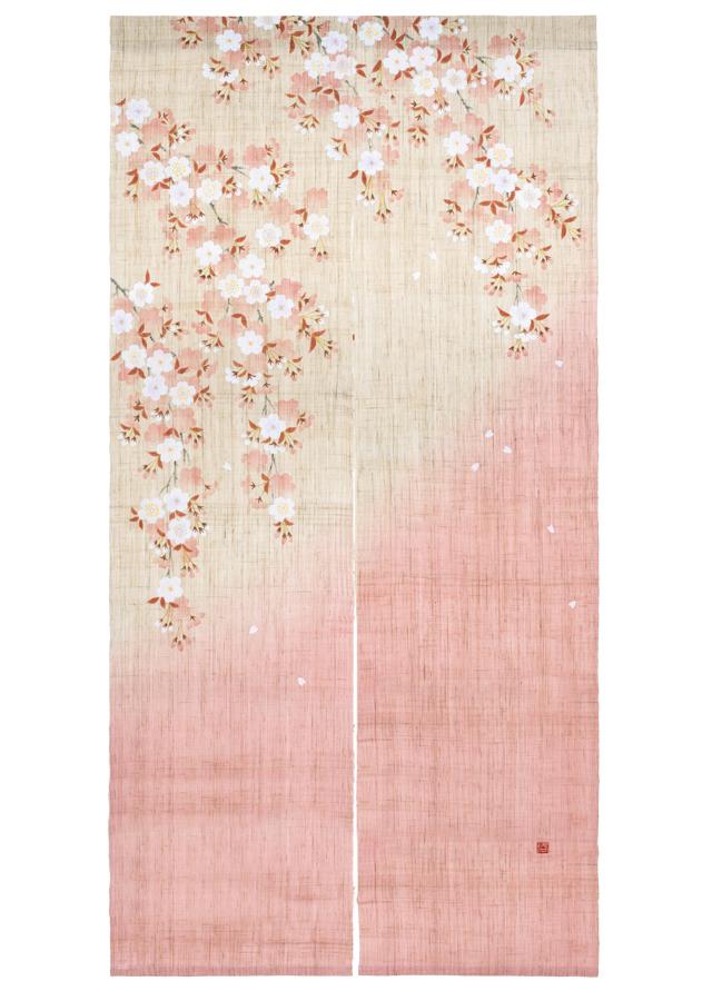 手描きのれん「山里桜」 180cm