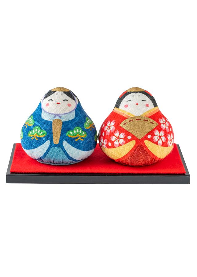 麻人形「みやび雛」台座付き