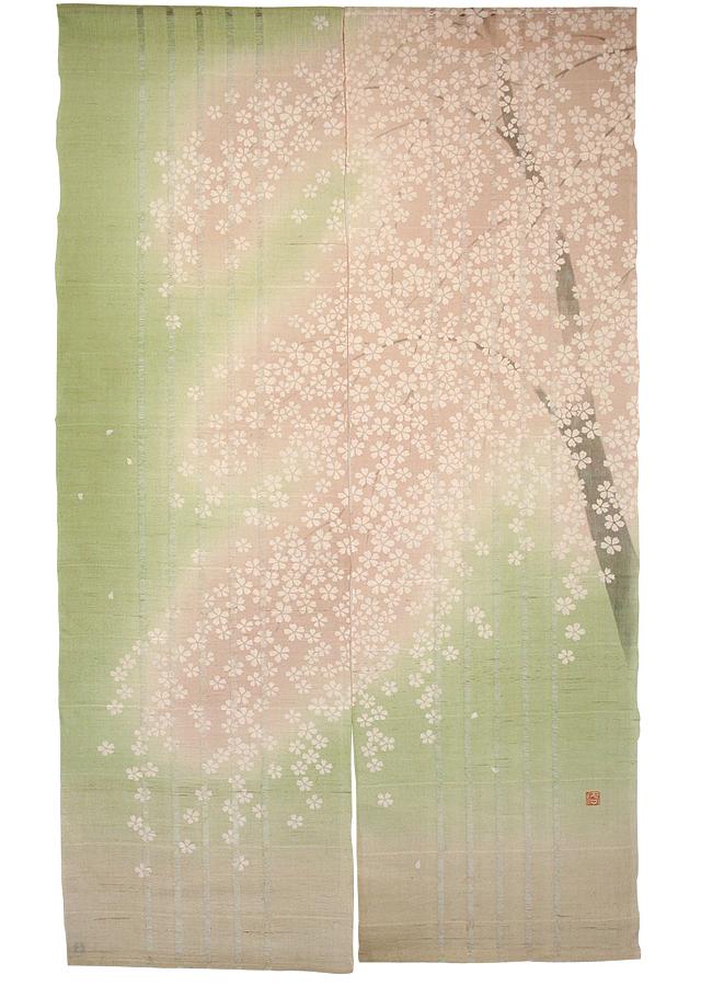 のれん「咲桜」