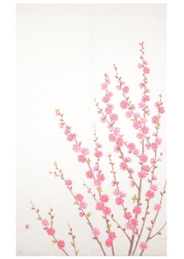 のれん「桃の花」