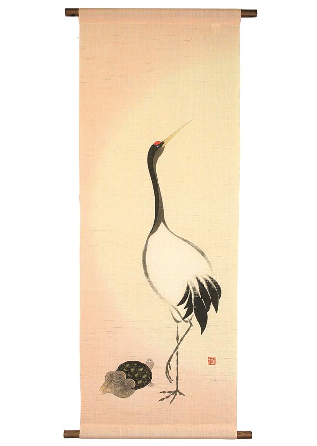 タペストリー「鶴と亀」