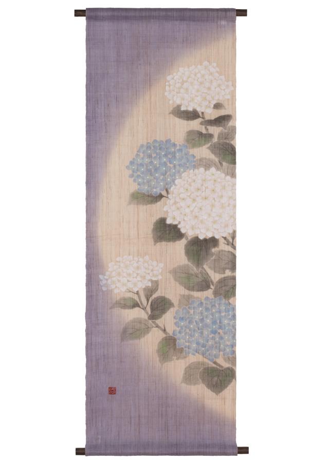 タペストリー「てまり紫陽花」