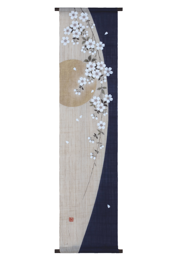 タペストリー「枝垂月」