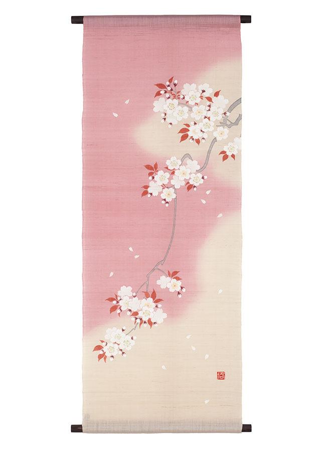 手描きタペストリー「吉野桜」