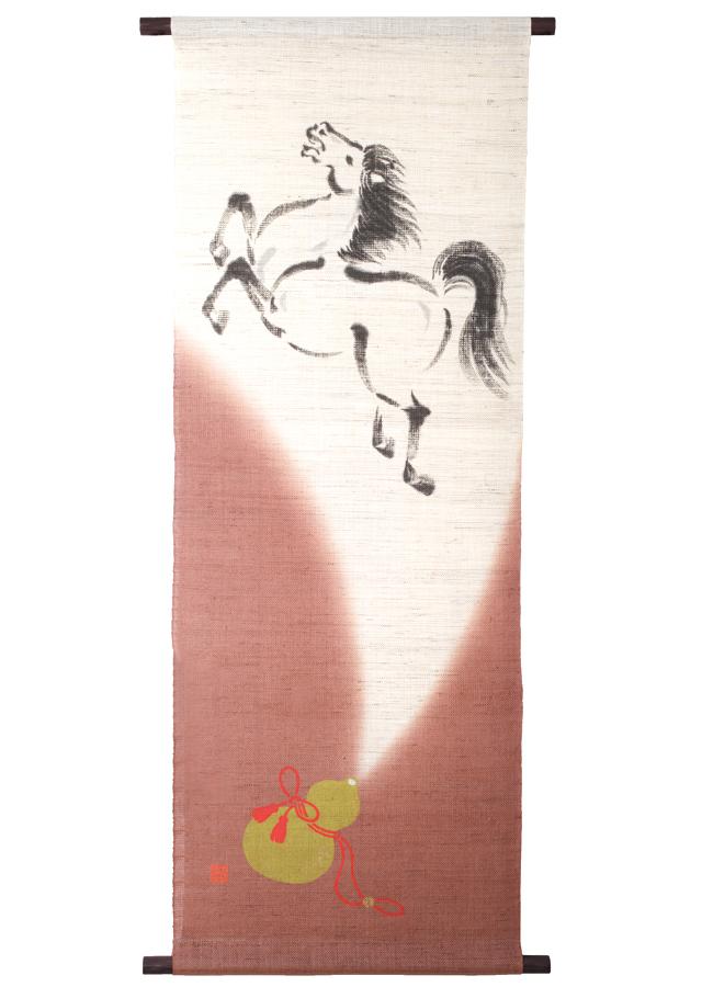 タペストリー「瓢箪から駒」