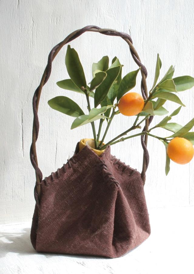 花入れ「柿渋・Pot」