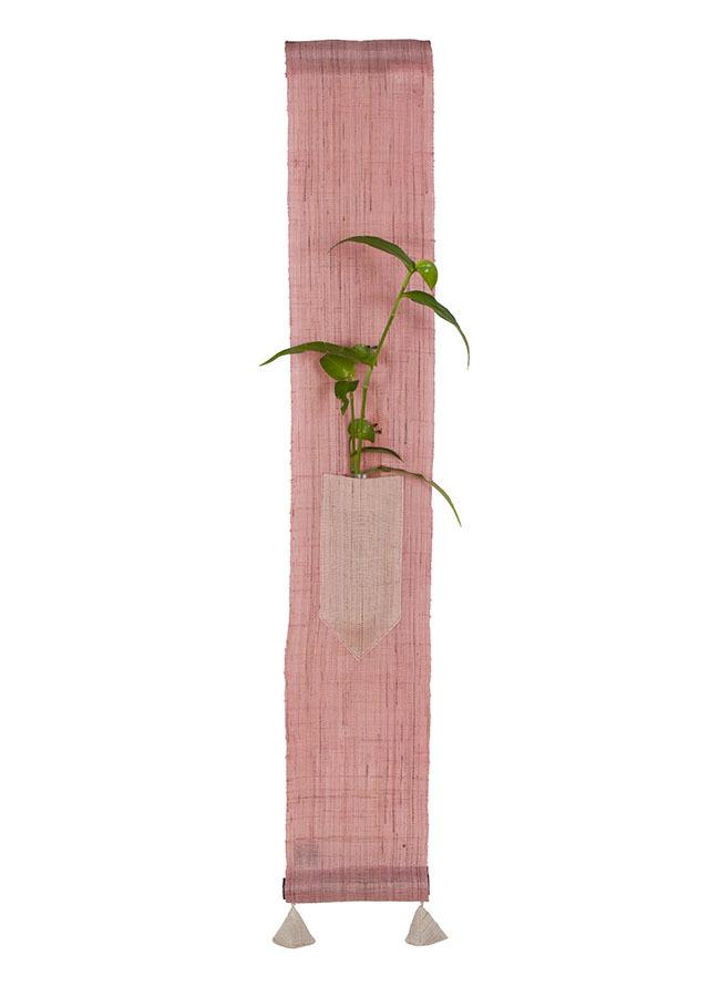 【洛柿庵】豆タペストリー「花凛 さくら色」