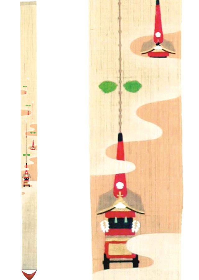細タペストリー「祇園祭」