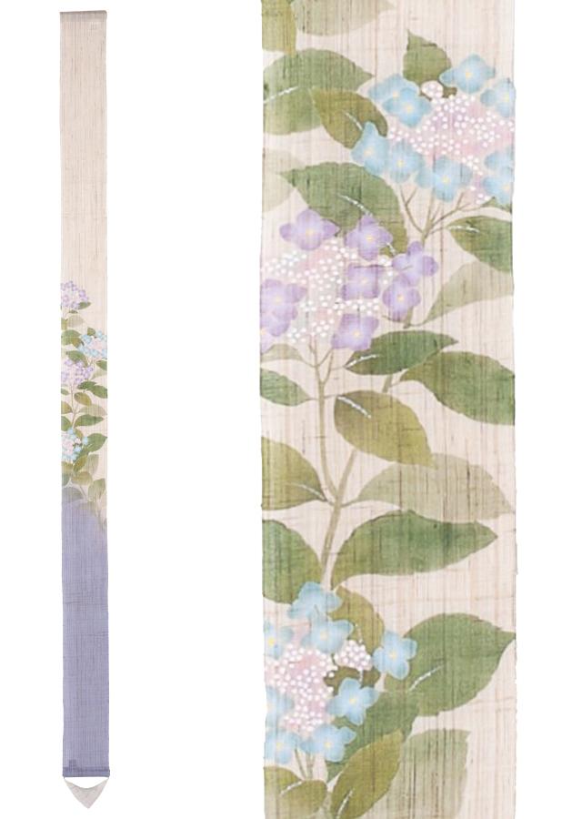 細タペストリー「額紫陽花」