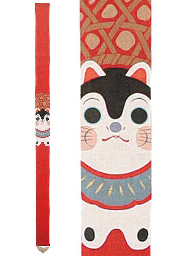 細タペストリー「狛犬張子」