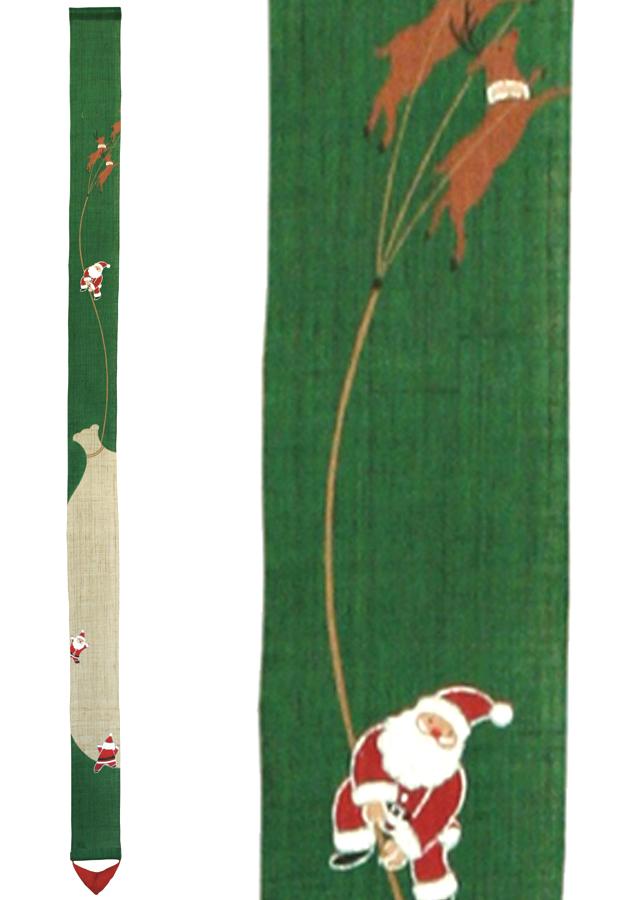 [洛柿庵]細タペストリー「サンタの宝袋」