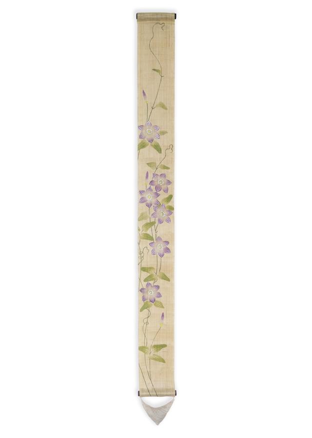 数量限定細タペストリー100cm「鉄線花」