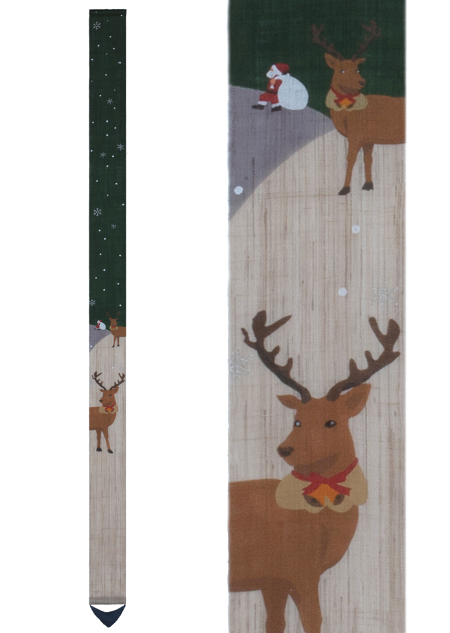 【洛柿庵】細タペストリー「トナカイのクリスマス」