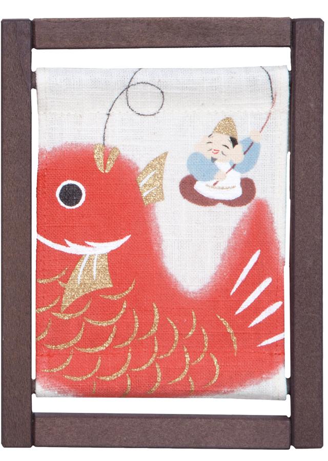 ミニ木枠「えべっさんに鯛」