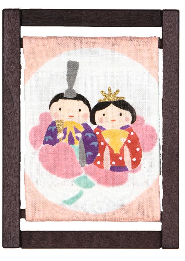 ミニ木枠「桜雛人形」