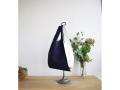 麻のワンマイルバッグ   Lサイズ 紺×白