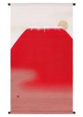 タペストリー「赤富士」