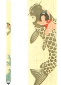 細タペストリー「鯉のり金太郎」