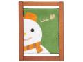 【洛柿庵】ミニ木枠タペストリー「スノーマン」